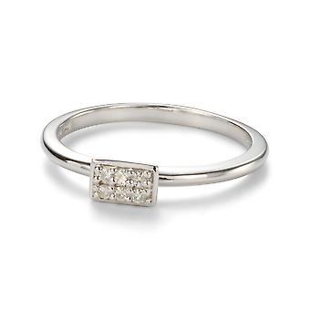 Forever Classic 1.4mm Moissanite Horizonal Rectangle Pave Ring