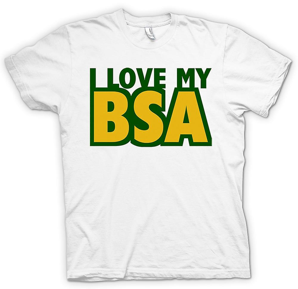 Mens T-shirt -  I Love My Bsa - Motorcycle - Biker