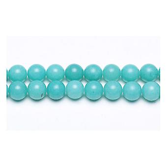 Strand 45+ Turquoise Malaysian Jade 8mm Plain Round Beads GS9949-3