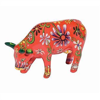 Flower Lover Cow Parade Cow (medium ceramic)