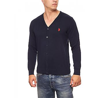 U.S. POLO ASSN. Cardigan Sweater men Cardigan blue