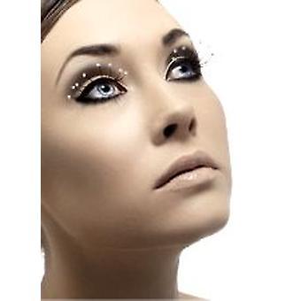 Øjenvipper - sort - med dråber - indeholder lim