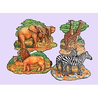 Safari dier Cut Outs (4/pkg)