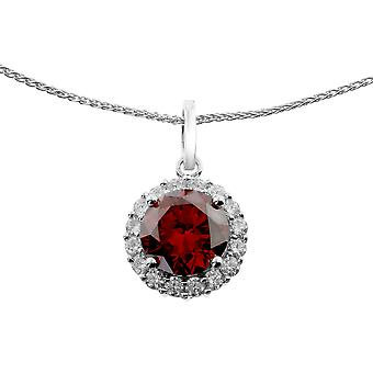 Orphelia Silver 925 Chain With Pendant Red Zirconia  ZH-6044/1