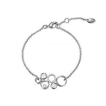 Esprit Damen Armband Edelstahl JW50230 Silber Zirkonia ESBR01884A160