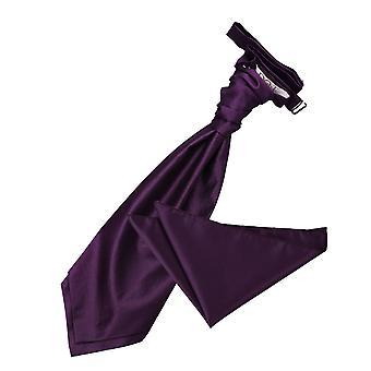 Cadbury viola tinta Check matrimonio Cravat & Set Square Pocket