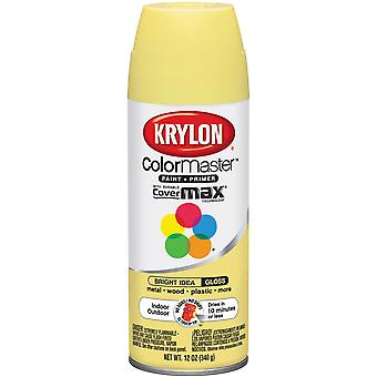 Colormaster Indoor/Outdoor Aerosol Paint 12oz-Gloss Bright Idea