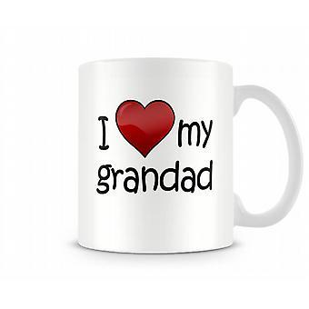 Jeg elsker min bestefar trykte krus