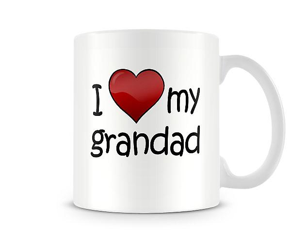 I Love My Grandad Printed Mug