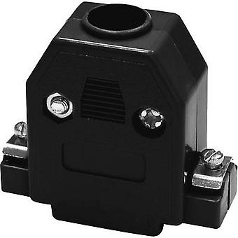 D-SUB housing Number of pins: 15 Plastic 180 ° Black econ connect PH15SW 1 pc(s)