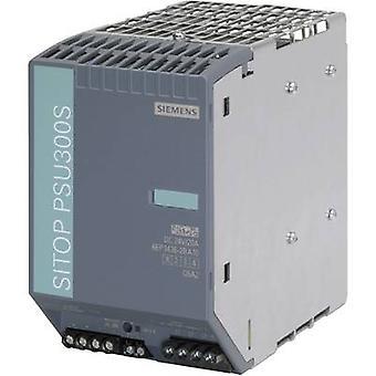 シーメンス SITOP PSU300S 24 V/20 A レール マウント 480 W の電源ユニット (DIN) 24 Vdc 20 × 1
