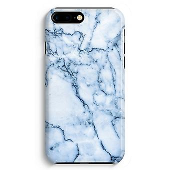 iPhone 8 Plus Full Print Case (Glossy) - Blue marble