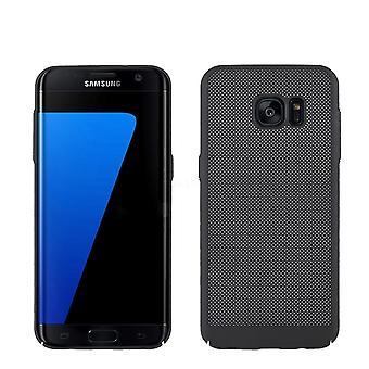 Caso de telefone celular para Samsung Galaxy S7 borda manga caso bolsa capa case preto