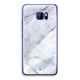 HTC U Ultra Transparent Case (Soft) - Marble white
