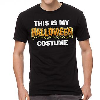 This Is My Halloween Costume Graphic Men's Black T-shirt