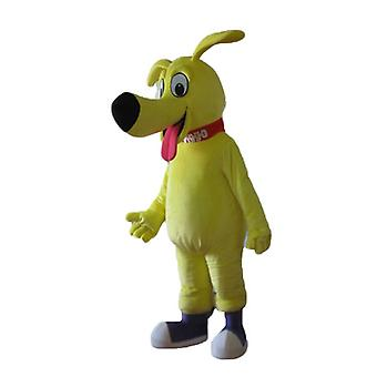 mascot big dog yellow, very cute and endearing SPOTSOUND