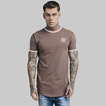 Sik Silk S/S Curved Hem Taped Gym T-Shirt Rust