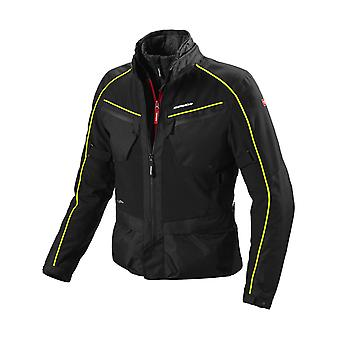 Spidi Black Fluorescent Yellow Inter Cruiser H2Out Waterproof Motorcycle Jacket