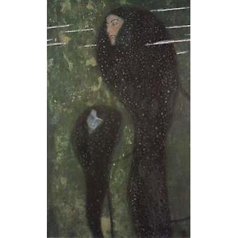 Mermaids (Whitefish), Gustav Klimt, 82x52cm