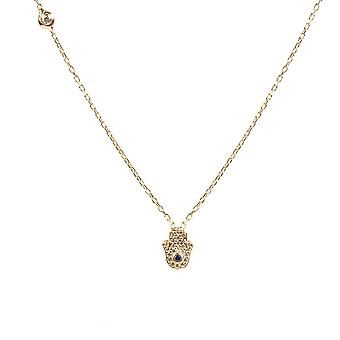 Latelita Hamsa Hand Fatima Necklace Sterling Silver Evil Eye Pendant Rose Gold