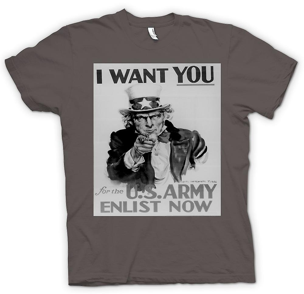 Womens T-shirt - US Army I Want You - Vintage War