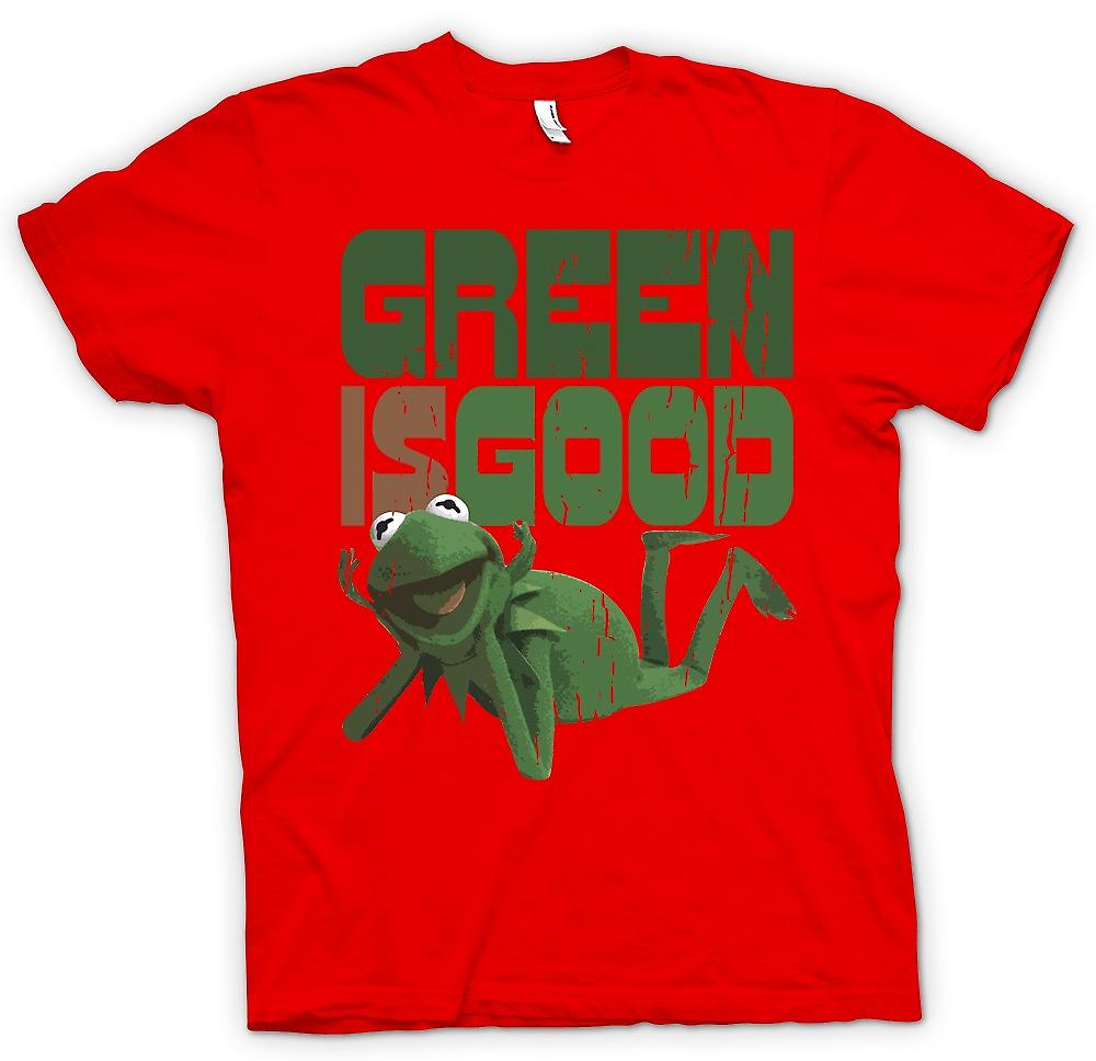 Heren T-shirt-Green Is Good - Kermit - Muppet toont geïnspireerd