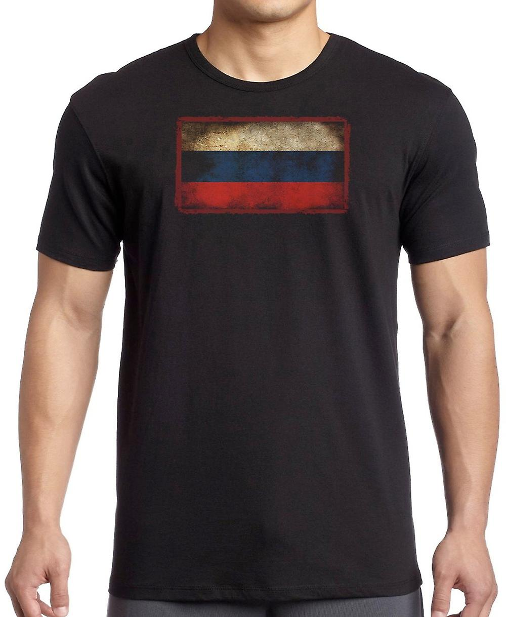 Russian Russia Grunge Flag Kids T Shirt