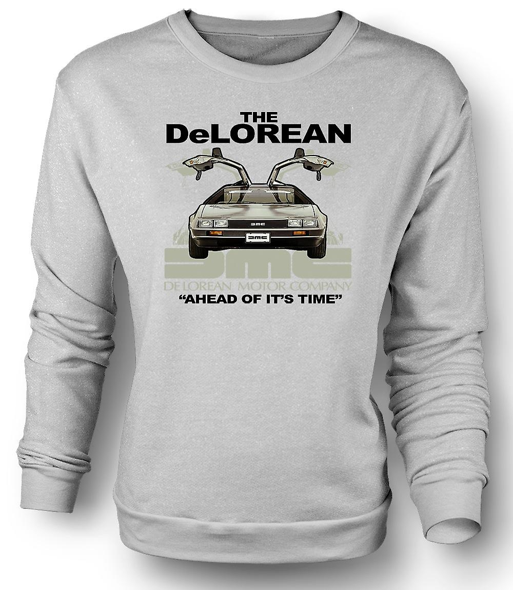 Mens Sweatshirt DeLorean - forut for sin tid