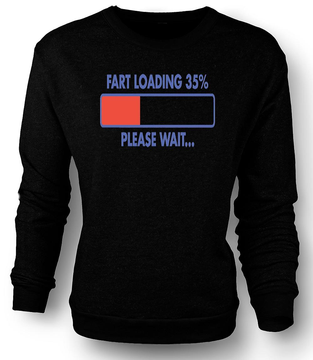Mens Sweatshirt Fart Loading 35%, Please Wait - Quote