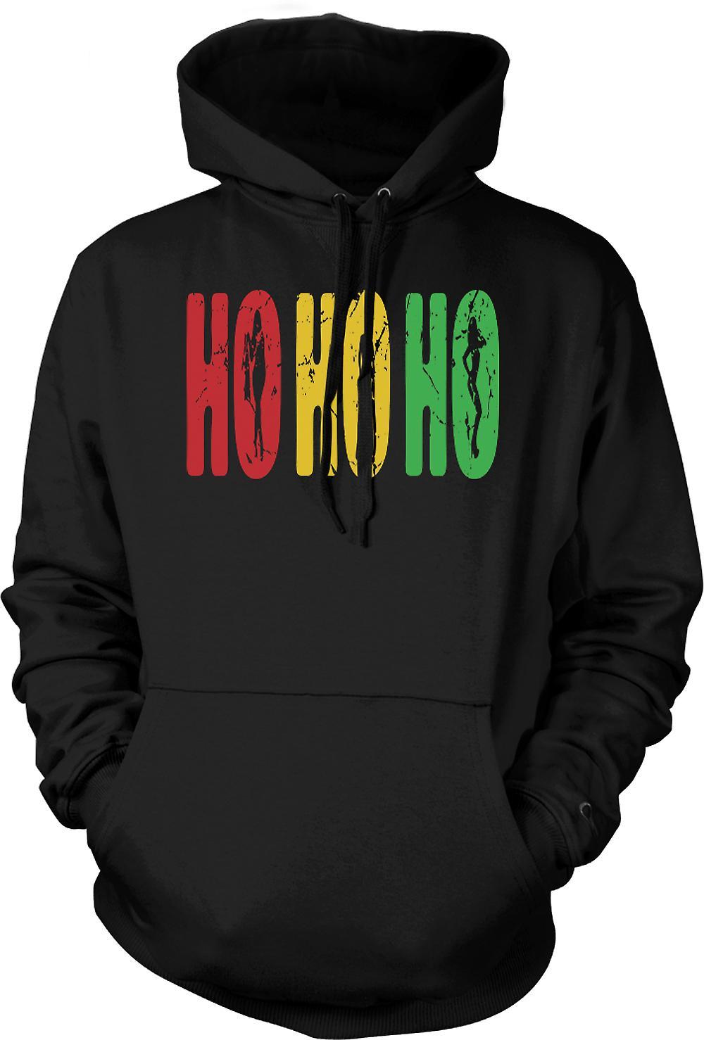 Mens Hoodie - Ho Ho Ho - Funny But Crude Santa