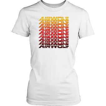 Airwolf - Classic 80s TV - Super Helicopter Ladies T Shirt