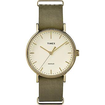 Timex Weekender marrone Leather Strap Watch Unisex TW2P98500 37mm