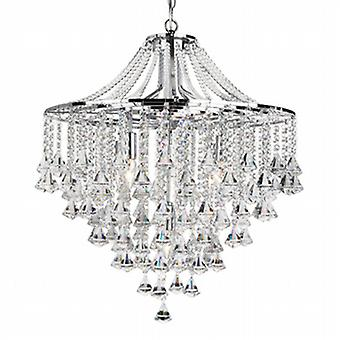Searchlight 3495-5CC Dorchester 5 Light Crystal Chandelier