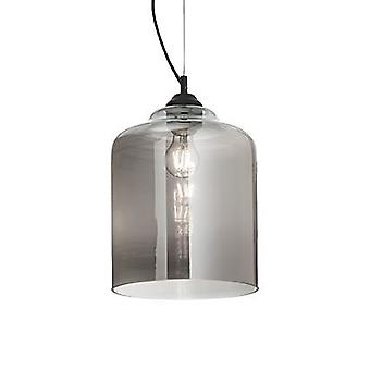 Ideal Lux - Bistro Smokey Grey Glass Square Pendant IDL112312