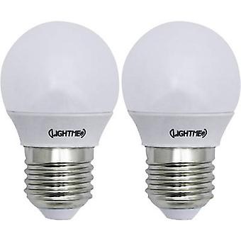 LightMe LED EEC A++ (A++ - E) E27 Droplet 3 W = 25 W Warm white (Ø x L) 45 mm x 74 mm 2 pc(s)