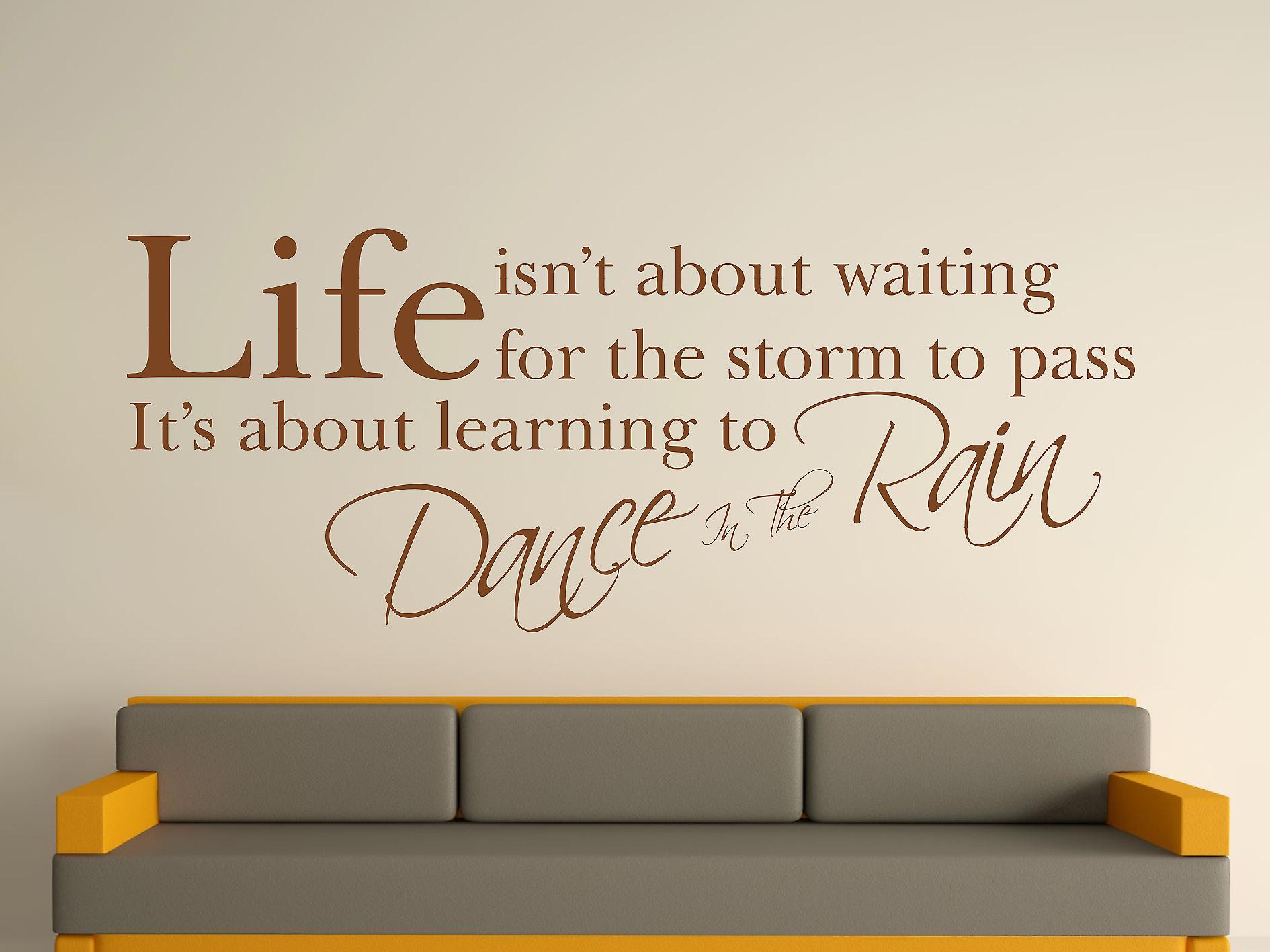 Dance In The Rain Wall Art Sticker - Brown