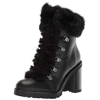 Guess Womens gwGALWAY Leather Round Toe Ankle Combat Boots