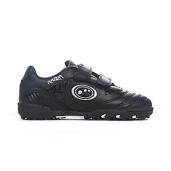 Optimum Razor Velcro Moulded Kids Astro Turf Trainer Shoe Black/Silver