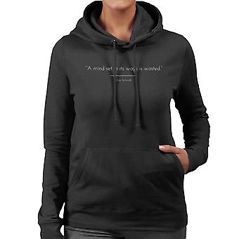 Mindfulness Eric Schmidt citerar Women's Hooded Sweatshirt