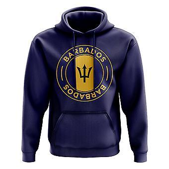 Barbados Football Badge Hoodie (Navy)