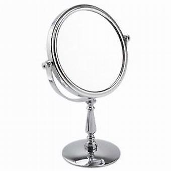 Famego 5x Magnification Chrome Pedestal Mirror
