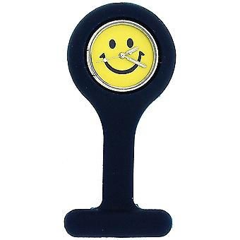 Boxx Navy Blue Smiley Face Infection Control Gel Professional Fob Watch Boxx49