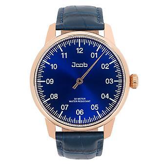 Jacob Jcw004-Lr03 Einzeiger Rose guld/blå Herre ur