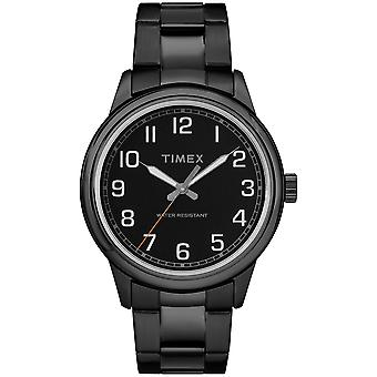 Timex Mens New England Black Stainless Steel Bracelet Watch TW2R36800