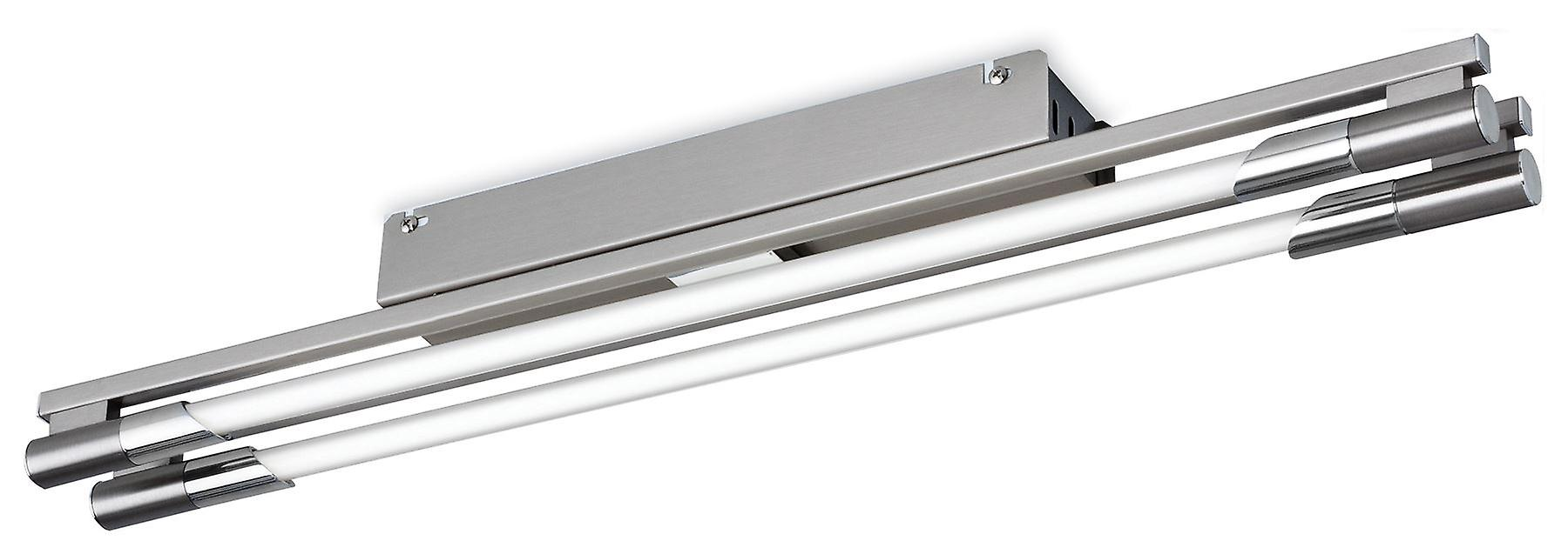 Firstlumière - 2 lumière Flush lumière Brushed Steel - 2338BS
