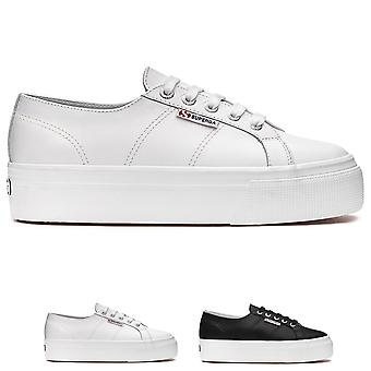 Womens Superga 2790 Nappa Flatform Wedge Summer Lace Up Fashion Trainers