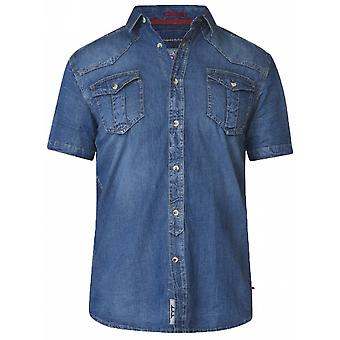 Duke Stonewash Denim Short Sleeve Shirt