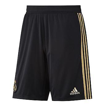 2019-2020 Real Madrid Adidas training Shorts (zwart)-Kids