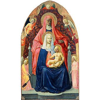 Holy Ana Metterza,MASACCIO,60x35cm