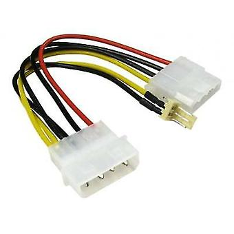 Power Adapter Cable 4 pin Molex male-female Extension to 3 Pin Fan CabledUp